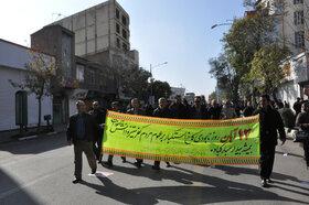 شرکت مدیرکل و کارکنان کانون استان اردبیل در راهپیمایی ۱۳ آبان