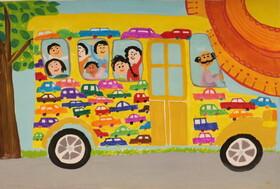 """عضو هنرمند کانون گلستان برگزیده مسابقه نقاشی محیط زیست """" کائو """" ژاپن شد"""