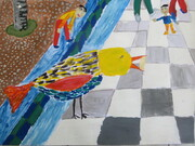 """عضو هنرمند کانون خراسان شمالی برگزیده مسابقه نقاشی محیط زیست """" کائو """" ژاپن شد"""