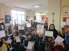 کودکان کرمانشاهی به استقبال هفته کتابوکتابخوانی رفتند