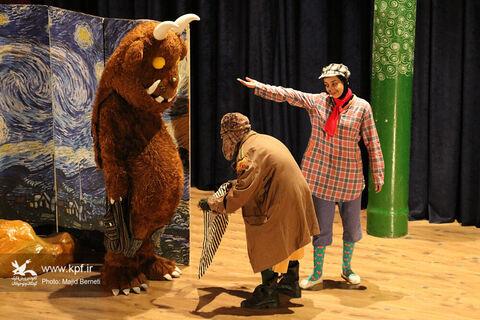 اجرای نمایش گروفالو در سالن سینما کانون ساری