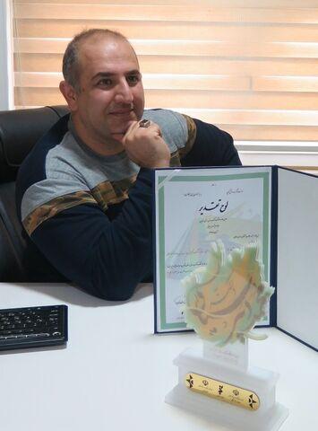 کسب عنوان برتر جایزه کتاب سال استان برای کارشناس ادبی کانون قزوین