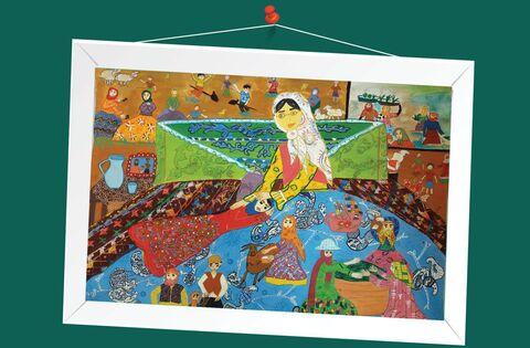فاطمه معمر 14ساله از کانون پارسآباد استان اردبیل