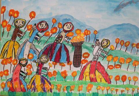 کودک هنرمند گلستانی برگزیده مسابقه نقاشی هیکاری ژاپن شد