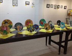 نمایشگاه هنرهای تجسمی «آفرینش» در جهرم برپا شد