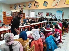 انجمن قصهگویی «قاف مثل قصه» در مرکز شماره ۳ کانون پرورش فکری کرمانشاه برگزار شد