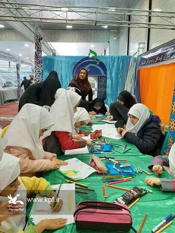 غرفه کانون پرورش فکری گلستان در بیست و هشتمین اجلاسیه سراسری نماز در گرگان