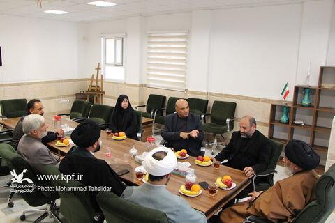 نشست مسئولان کانون قم با امام جمعه پردیسان