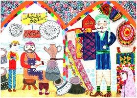 در خشش اعضاء کانون پرورش فکری کودکان و نوجوانان استان اصفهان در مسابقه بین المللی نقاشی تاشکند
