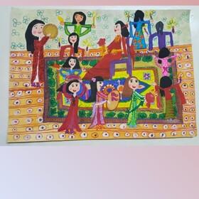 درخشش عضو کانون آذربایجانغربی در مسابقه نقاشی ازبکستان
