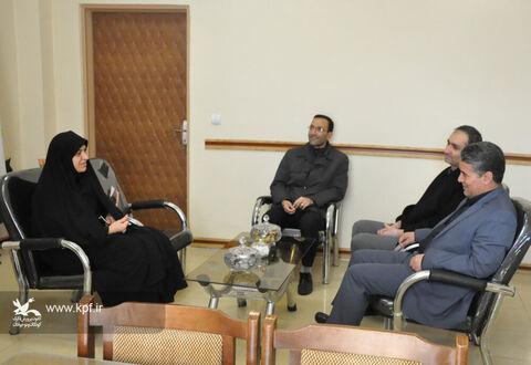 دیدار مدیران کل کانون و نهاد کتابخانههای عمومی استان اردبیل