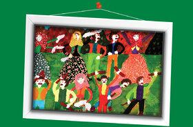 آیلا یوسفیان 10 ساله اصفهان برگزیده مسابقه نقاشی تاشکند ازبکستان