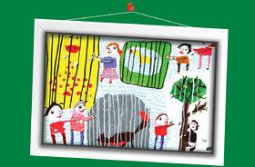 پگاه عباسی-7 ساله-لرستان برگزیده مسابقه نقاشی تاشکند ازبکستان