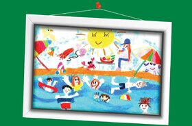 روژان مشفقی 6 ساله از هرمزگان برگزیده مسابقه نقاشی تاشکند ازبکستان