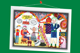 سمیرا شکرانی 13 ساله از اصفهان برگزیده مسابقه نقاشی تاشکند ازبکستان