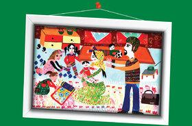 فاطمه رحیمی10 ساله از اردبیل برگزیده مسابقه نقاشی تاشکند ازبکستان