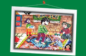 مینا عرب جعفری 12 ساله از اصفهان برگزیده مسابقه نقاشی تاشکند ازبکستان