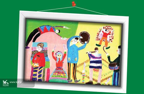 ام البنین فروغی- 9 ساله- اصفهان برگزیده مسابقه نقاشی تاشکند ازبکستان