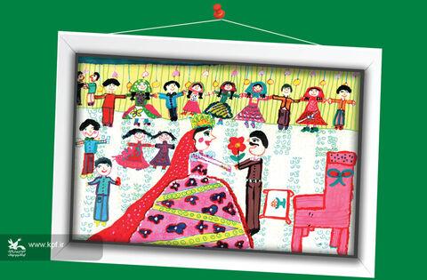 خوشقدم بابشآقایی 9 ساله از آذربایجان غربی برگزیده مسابقه نقاشی تاشکند ازبکستان