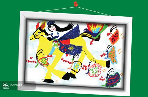 فاطمه دهقانی6 ساله از فارس برگزیده مسابقه نقاشی تاشکند ازبکستان