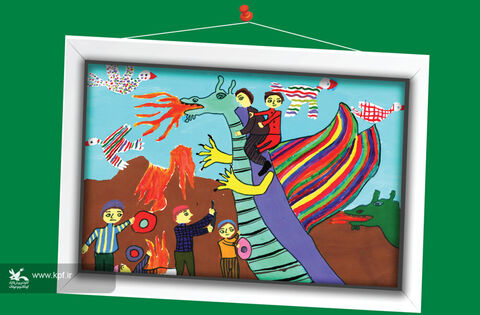 منا خورشیدی 10 ساله از کرمانشاه برگزیده مسابقه نقاشی تاشکند ازبکستان