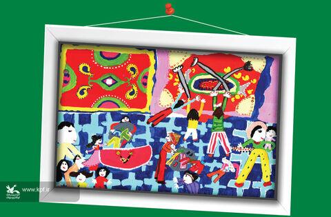 مهدانا میرزایی8 ساله از کرمان برگزیده مسابقه نقاشی تاشکند ازبکستان
