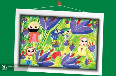 مبینا ساداتصدیقی 11 ساله از خراسان جنوبی برگزیده مسابقه نقاشی تاشکند ازبکستان