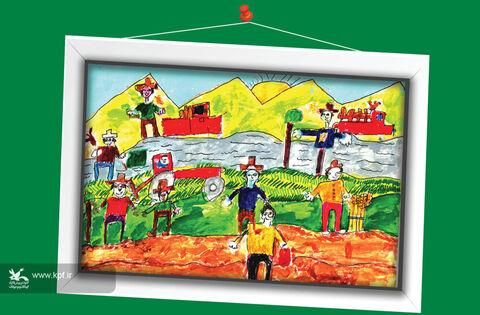 مهران روحالهی 10 ساله از اصفهان برگزیده مسابقه نقاشی تاشکند ازبکستان