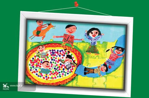 هدیه کریمی9 ساله از اصفهان برگزیده مسابقه نقاشی تاشکند ازبکستان