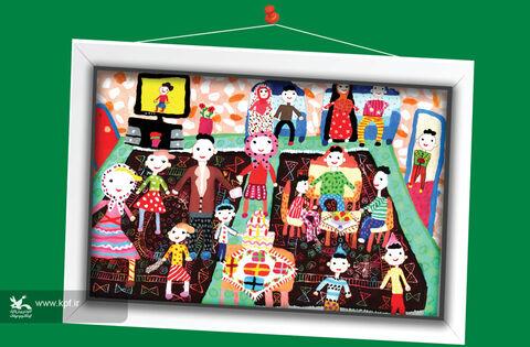 هانی دریواس 9ساله از اردبیل برگزیده مسابقه نقاشی تاشکند ازبکستان