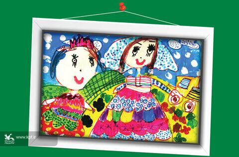 هانیهسادات رفیعیپور 6 ساله اصفهان برگزیده مسابقه نقاشی تاشکند ازبکستان