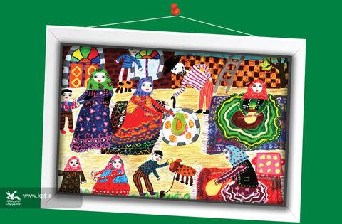 یسنا فروتن  9 ساله از اردبیل برگزیده مسابقه نقاشی تاشکند ازبکستان