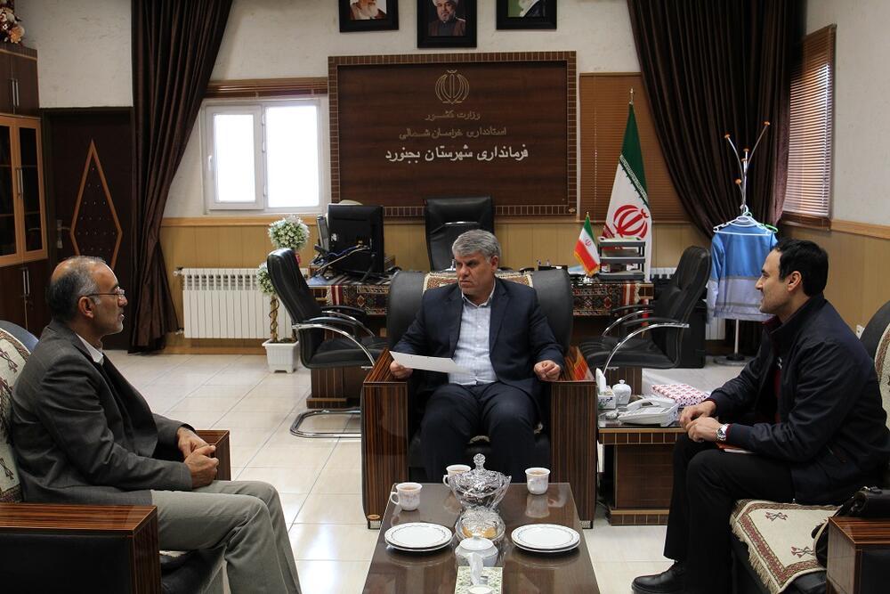 دیدار مدیرکل کانون استان با فرماندار بجنورد