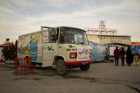 شهردار همدان به کانون پرورش فکری اتوبوس اهدا میکند