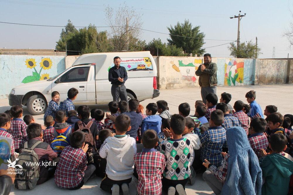 دوستی پیام کاروان پیک امید کانون به مهاجران مهمانشهر شهرستان گتوند