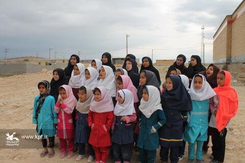 امداد فرهنگی کانون با مشارکت آموزش و پرورش عشایری خوزستان در منطقه سرگچ