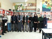 دیدار استاد «حسن ترخوانه» نقاش و هنرمند استانی و بین المللی زنجانی از کانون