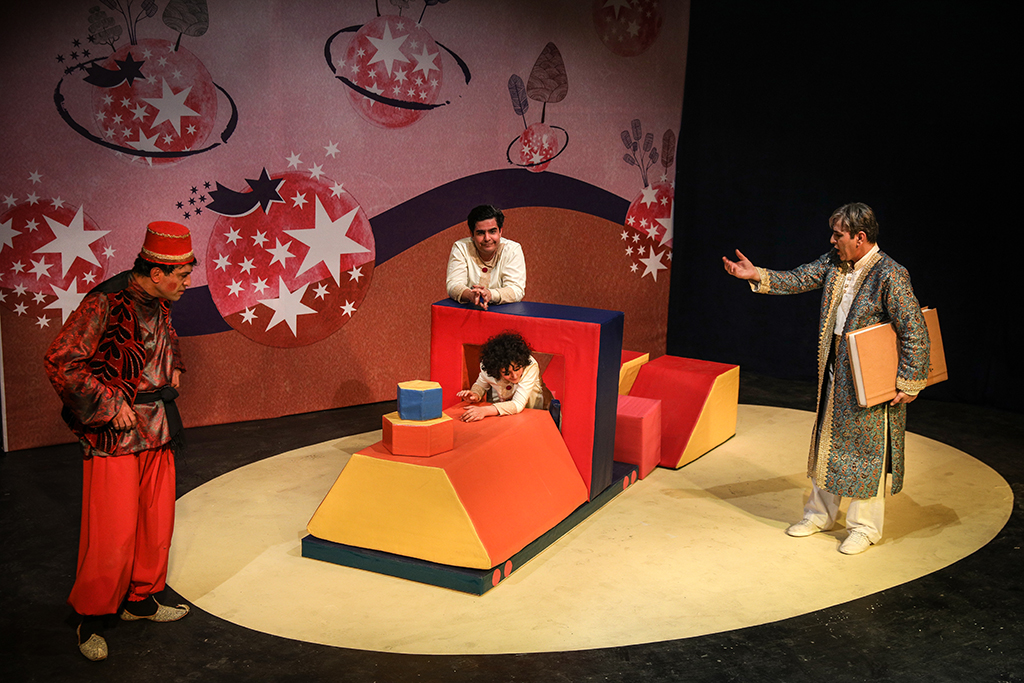 "Performing ""Children Seven Phases"" at Kanoon Theater Center"