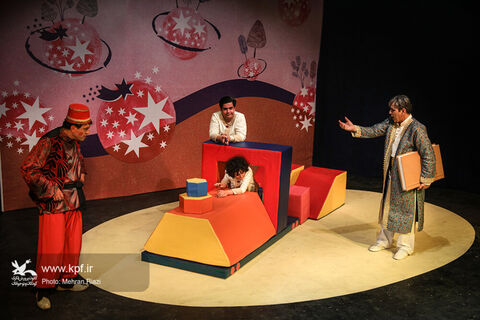"""Performing """"Children Seven Phases"""" at Kanoon Theater Center"""