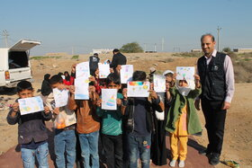 سفر کاروان«فجرانه پیک اُمید» کانون خوزستان به روستای مگطیع یبر