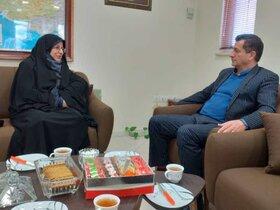 مدیر کل کانون فارس با فرماندار اقلید دیدار کرد