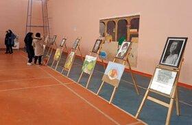افتتاح نمایشگاه آثار اعضای کانون مراوه تپه با حضور فرماندار