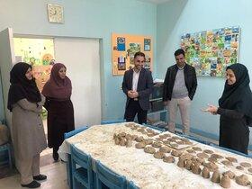 همایش سفال توسط کانون پرورش فکری شهر گز به مناسبت دهه فجر برای کودکان و نوجوانان برگزار شد