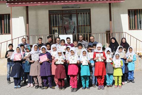 پیک امید کانون پرورش فکری مازندران در مدرسه ابتدایی شهید قاسمی روستای باباکلا چهاردانگه