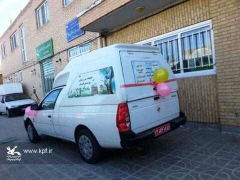 مرکز فراگیر و دومین کتابخانه سیار روستایی هدیه فجر ۹۸ به کودکان ونوجوانان قاینات