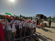 جشن دهه فجر کانون پرورش فکری آزادشهر در روستای قرهسو برگزار شد