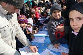ایستگاه نقاشی کانون پرورش فکری کودکان و نوجوانان  در جشن ۲۲ بهمن ۱۳۹۸