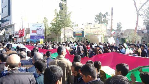 «ایستگاه انقلاب» کانون پرورش فکری سیستان و بلوچستان در مسیر راهپیمایی ۲۲ بهمن