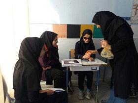 بریل خوانی عضو مرکز فراگیر کانون پرورش فکری لرستان