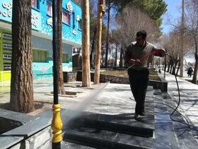 ضدعفونی مراکز فرهنگی هنری کانون فارس